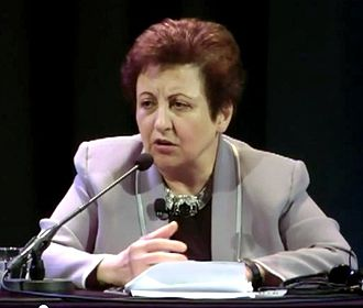 Shirin Ebadi - Shirin Ebadi during a lecture - organized by University of Amsterdam, 7 November 2011