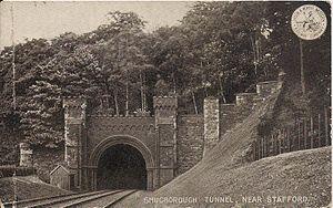 Shugborough Hall - Shugborough Tunnel - postcard, 1900s