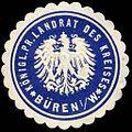 Siegelmarke Königlich Preussischer Landrat des Kreises - Büren in Westfalen W0234847.jpg