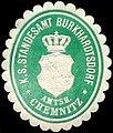 Siegelmarke Königlich Sächsisches Standesamt Burkhardtsdorf - Amtshauptmannschaft Chemnitz W0240002.jpg