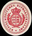 Siegelmarke K. Württembg. Hofmarschallamt W0350300.jpg