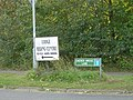 Sign for Dacres Bridge Lane - geograph.org.uk - 999662.jpg