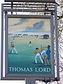 Sign for the Thomas Lord, West Meon - geograph.org.uk - 685147.jpg