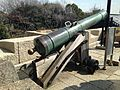 Signal Gun in front of Tenshu of Osaka Castle.JPG