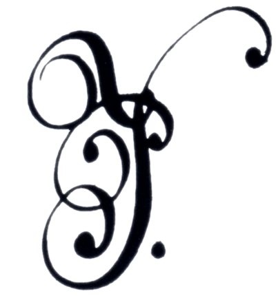 Signed initials of Pedro II of Brazil