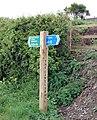 Signpost beside the Camel Trail - geograph.org.uk - 1286408.jpg