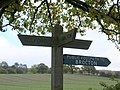 Signpost on bridleway - geograph.org.uk - 1036591.jpg