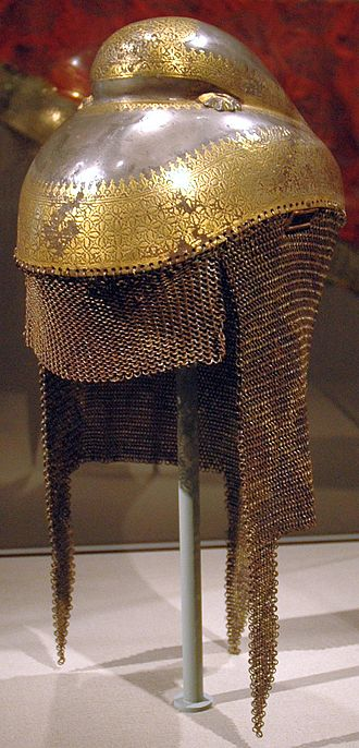 Sikhs - A Sikh Khalsa Army sowar's battle helmet