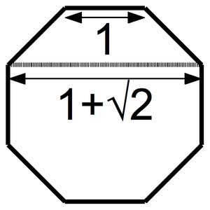 Metallic mean - Image: Silver ratio octagon