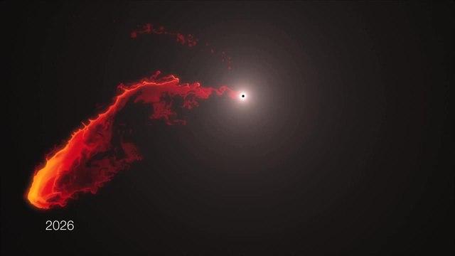 Black hole gas cloud approaching