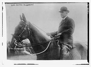 George Richardson (Indian Army officer) - Richardson on horseback