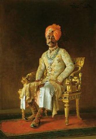 Idar State - Maharaja Pratap Singh of Idar.