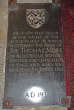Sir Thomas More family's vault