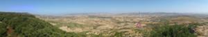 Masullas - View of Siris, Masullas and Giara of Gesturi from the nuraghe of Inus