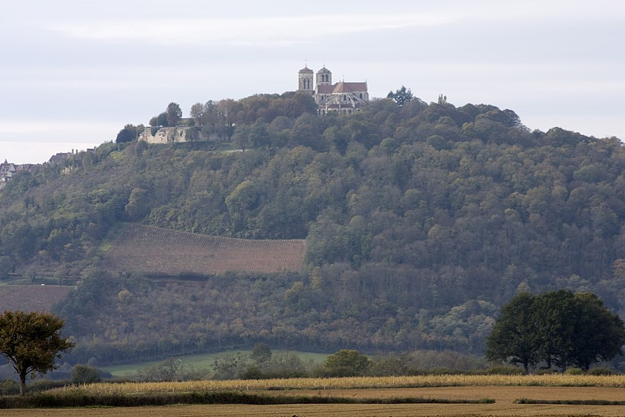 English:  The site of Vézelay, in the mist of an autumn day. (Burgundy, France).