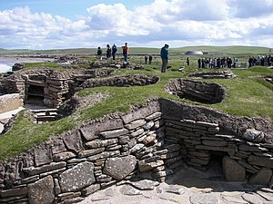Scotland - Scara Brae. A Neolithic settlement, located on the west coast of Mainland, Orkney.