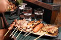 Skewers of meat at a yatai beside Naka-gawa, Fukuoka, Japan - 20110525.jpg