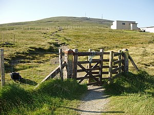Snaefell - Image: Snaefell Mountain Walking Trail Isle of Man kingsley 24 JUN 09