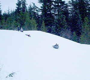Snow Bunny - Main tubing hill at Snow Bunny shown at midweek when the concession is not operating