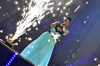 Sofi Marinova - Sofi Marinova performing at the Eurovision National Final in Bulgaria at National Palace of Culture, Sofia.