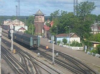 Sonkovo railway station - Image: Sonkovo station
