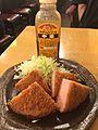 Sours, kushikatsu and ham katsu at Ikkenme sakaba, Kichijoji, Tokyo jaoan (34675528655).jpg