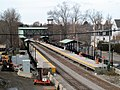 South Acton station construction from Route 27 bridge, November 2015.JPG