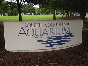 South Carolina Aquarium - Image: South Carolina Aquarium sign IMG 4592