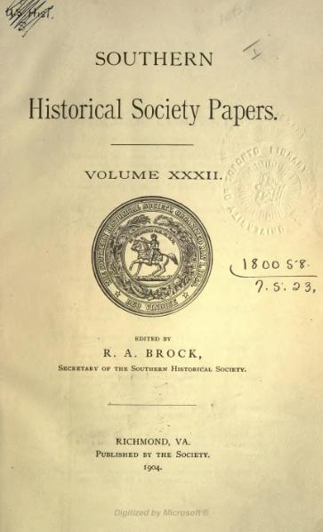 File:Southern Historical Society Papers volume 32.djvu