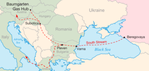 Map of the proposed South Stream natural gas t...