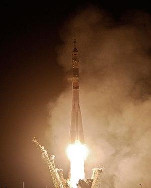 Soyuz TMA-20 - The Soyuz TMA-20 rocket launches from the Baikonur Cosmodrome carrying Kondratyev, Coleman and Nespoli to the International Space Station.