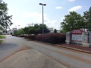 Spalding High School (Georgia) - Image: Spalding High School sign