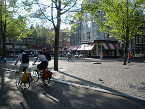 Spui square in Amsterdam