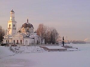 Ust-Izhora - Alexander Nevsky Church on the Neva River in Ust-Izhora