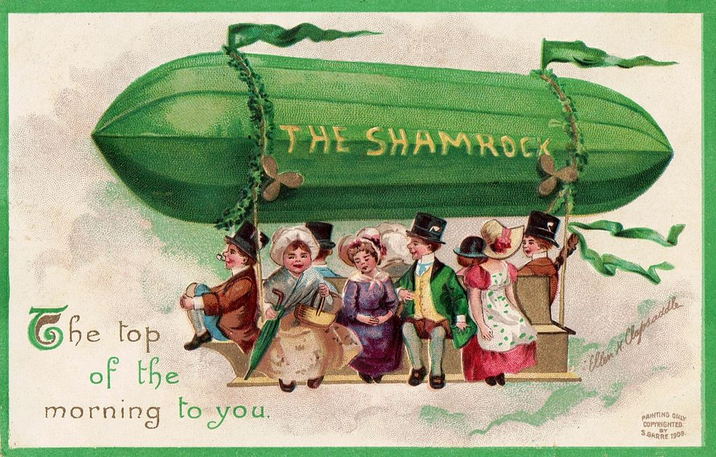 St. Patrick's Day postcard 1908