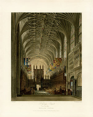 William Henry Pyne - Image: St George's Chapel from the Altar, Windsor Castle, from Pyne's Royal Residences, 1819 panteek pyn 16 532
