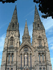 The three spires of St Mary's Cathedral