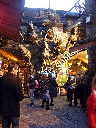 Camden Town - Stables market horse sculptures
