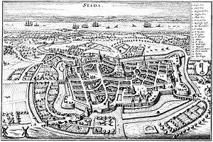 Stade - Stade in 1640 (drawing by Matthäus Merian)