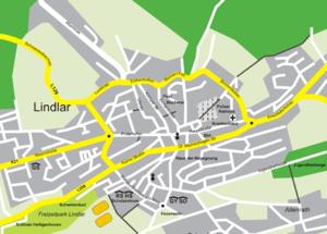 Lindlar - City map of Lindlar