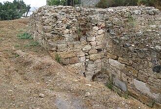 Potidaea - Remains of the city wall of Potidaea.