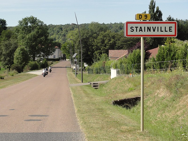 Stainville (Meuse) city limit sign