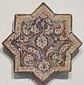 Star tile from Iran, Ilkhanid period, Honolulu Museum of Art III.JPG