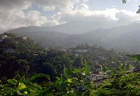 Start of the Blue Mountains just north of Kingston, Jamaica.jpg