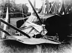 StateLibQld 2 161675 BE-2B aeroplane after hitting a stump at Rockhampton, 1920-1930.jpg