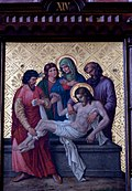 Station 14 Jesus is laid in the tomb and covered in incense, St. Nicholas Church in Elbl?g.JPG