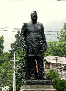 Statue of Govindballabh Pant, at Mall Road, Nainital.jpg