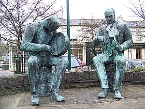 Irish traditional music - Statues of traditional musicians, Lisdoonvarna