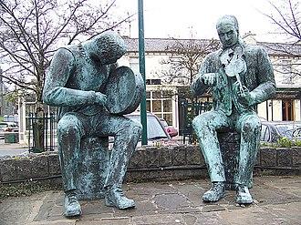 Irish traditional music - Statues of traditional musicians, Lisdoonvarna