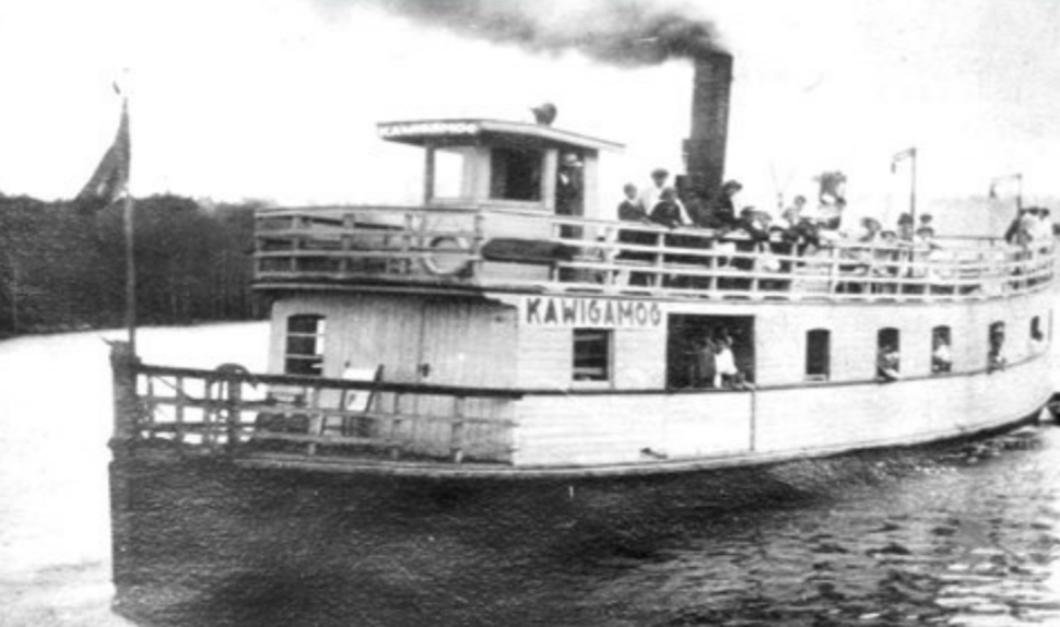 Steamship Kawigamog in northern Ontario (cropped)